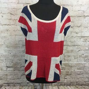 Puff & Bear Union Jack knit top M/L